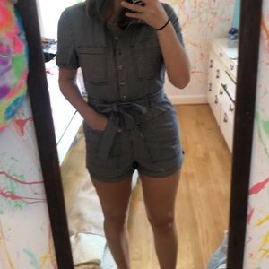 Utility stripped romper